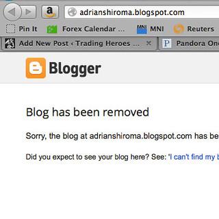Blogger entry