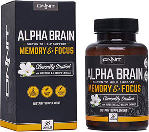 Alpha Brain memory and focus supplement