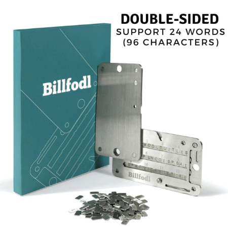 Billfodl seed key storage