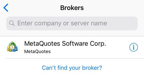 Search for brokers