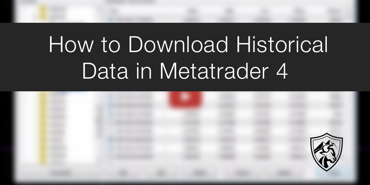 How To Metatrader 4 Historical Data