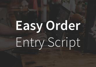 Forex Tester easy order entry script