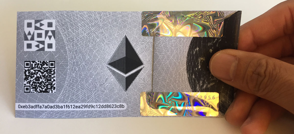 Ether paper wallet example