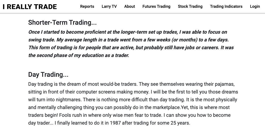 I really trade