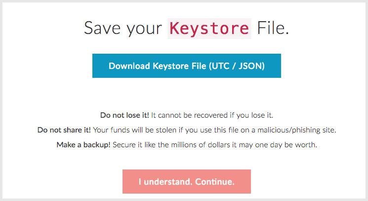 Keystore file