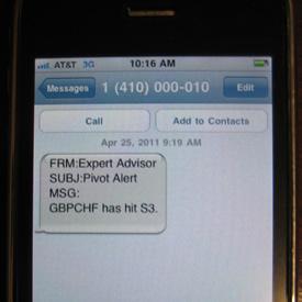 How to setup metatrader text message alerts