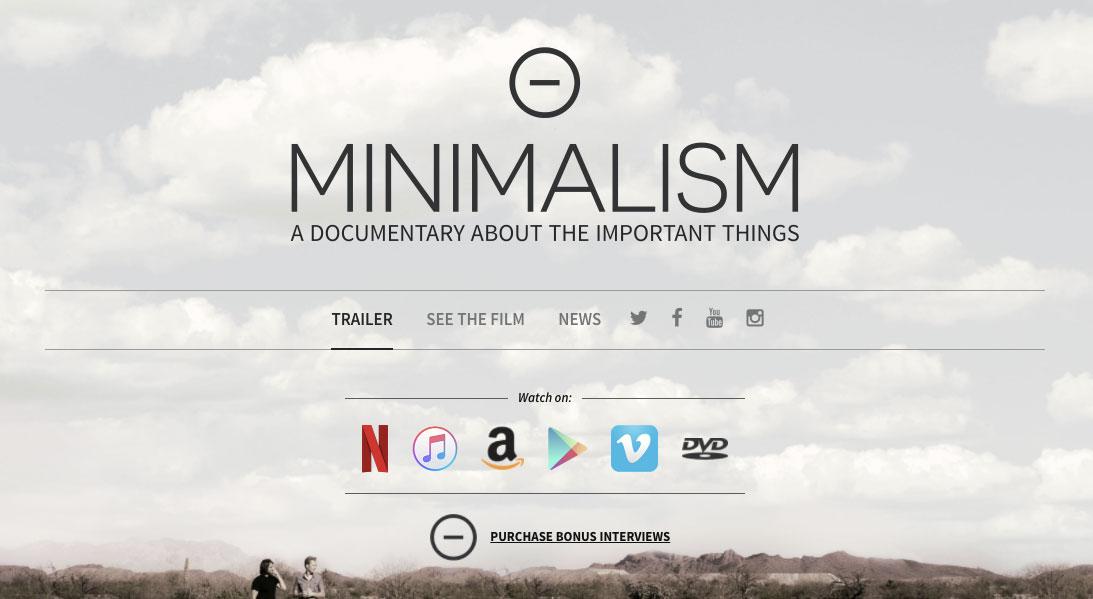 Minimalism Movie