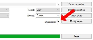 Optimization setting