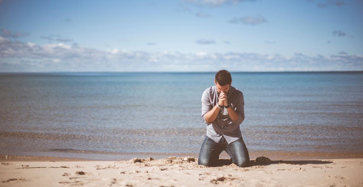 Praying trader