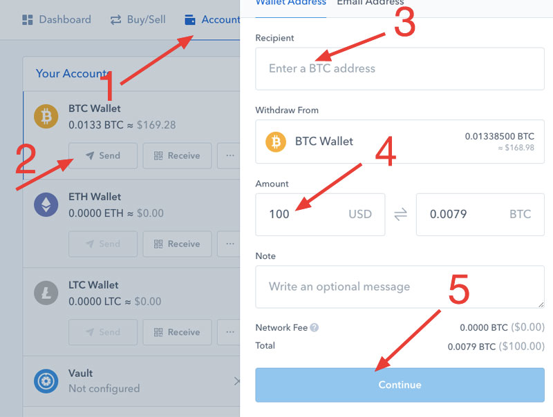 Send Bitcoin