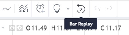 Bar replay start button